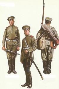 Russische Soldaten 1914-1917