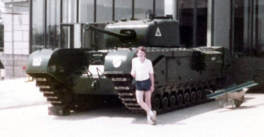 Churchill-Panzer im RAC Tank Museum