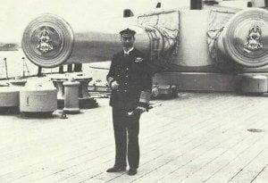König George an Bord von Queen Elizabeth