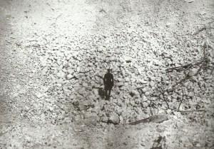 Krater nach Minendetonation