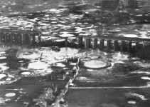 Bielefeld-Viadukt nach dem Angriff durch Lancasters