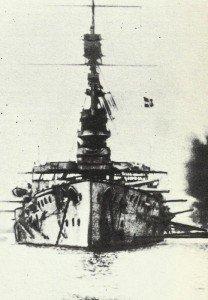HMS Cornwallis vor den Dardanellen