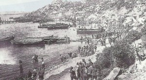Landung bei Gallipoli