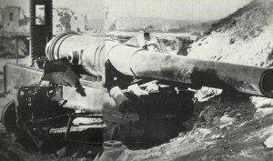 Türkisches Geschütz an den Dardanellen