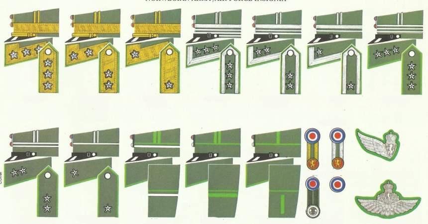 Norwegen Rangabzeichen