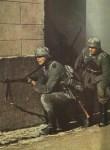 Deutsche Infanterie im Strassenkampf