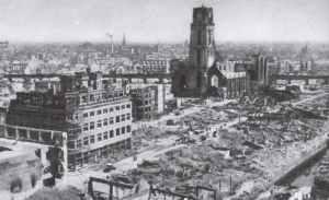zerstörte Altstadt von Rotterdam