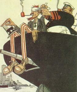 Blinder amerikanischer Passagier