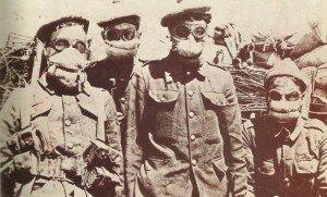 erste britische Gasmasken