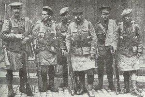 Gruppe von Soldaten der 51. Highland-Division