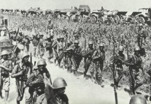 Italienische Truppen an der Alpengrenze