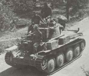 Pzkpfw 38 (t) Ausf E or F