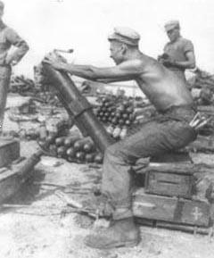 4,2-inch M2 Mörser der  Chemischen Mörser-Kompanie der US-Armee