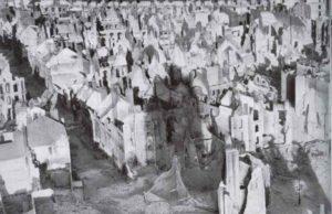 das bombardierte und zerstörte Dünkirchen
