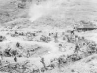 amerikanischer Nachschubspunkt im südlichen Okinawa