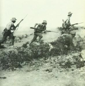 Angriff australischer Soldaten auf Gallipoli