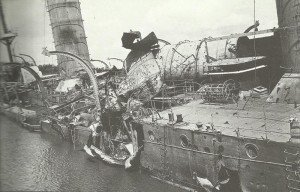 zerstörte deutsche leichte Kreuzer 'Königsberg'