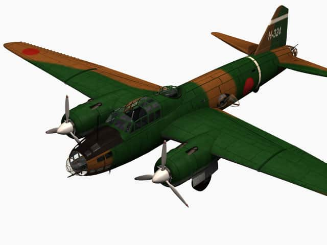 3D-Modell Mitsubishi G4M Betty