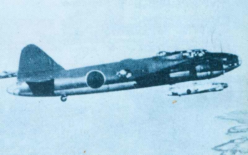 Formation von unterschiedlich bemalten Mitsubishi G4M1 Betty