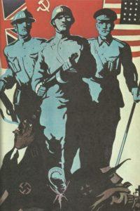 Plakat zum alliierten Sieg