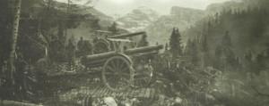 Österreich-ungarische Artillerie am Isonzo