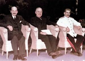 alliierten 'Großen Drei' auf der Potsdamer Konferenz
