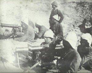 Türkische Maschinengewehrschützen