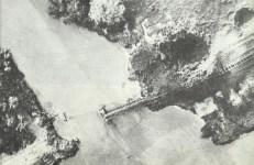 zerstörte Eisenbahnbrücke Burma