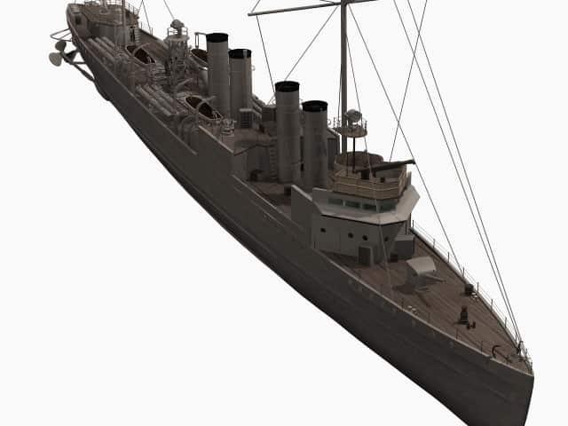 3D-Modell der HMS Cambeltown