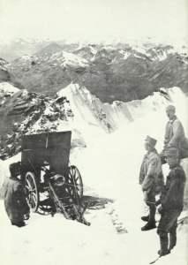 Gebirgsgeschütz am Pleißhorn