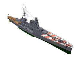 3D-Modell Schwerer Kreuzer Pola (Zara-Klasse).