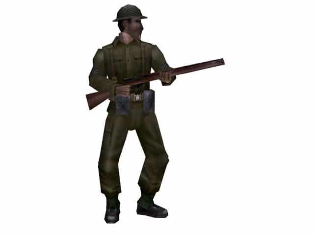 3d-Modell eines englischen Tommys