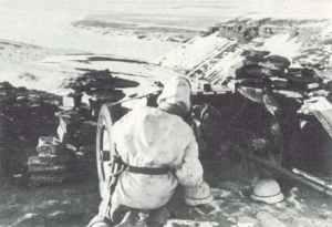 Pak 36 mit heruntergeklappten Schild