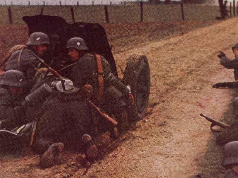 3,7-cm PAK 36 im Einsatz