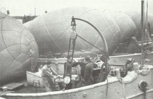 Sperrballone und Flak-Einheiten