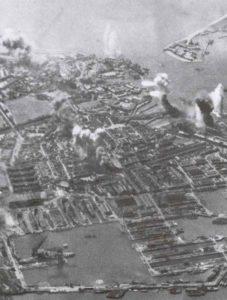Luftangriff auf den englischen Kriegshafen Portsmouth