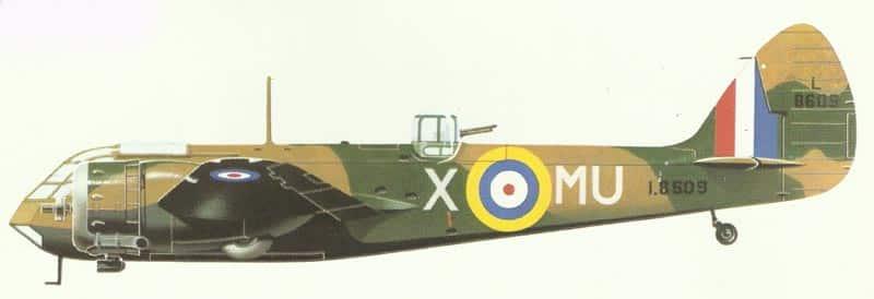 Modell einer Bristol Blenheim I