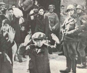 Juden ergeben sich SS-Truppen