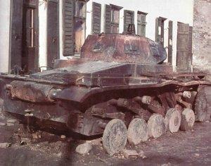 Ausgebrannter Panzer II