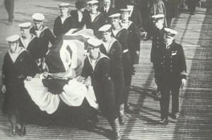 Sarg der exekutierten Krankenschwester Edith Cavell