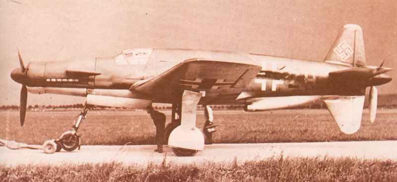 Do 335 V3 Prototyp im Oktober 1943.