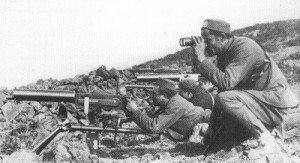 Soldaten einer montenegrinischen Maschinengewehr-Kompanie