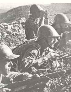 Rumänische Infanterie während der Schlacht um Sewastopol
