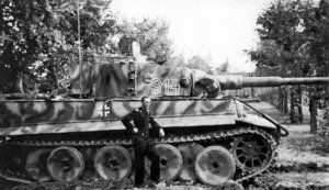 Tiger-Panzer der SS-Leibstandarte in Nord-Italien