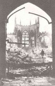 zerstörte Kathedrale von Coventry