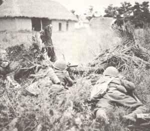 iItalienische Infanterie an der griechisch-albanischen Grenze