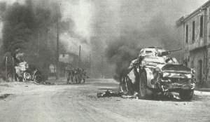 Kämpfe zwischen deutschen und italienischen Truppen