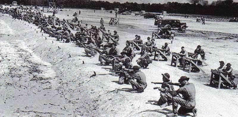 US-Soldaten Schiessplatz 1940/41