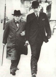 Winston Churchill mit seinem ersten Außenminister Lord Halifax