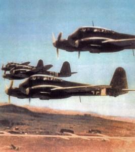Me 210 A-1 von 7./ZG 1 über Tunesien